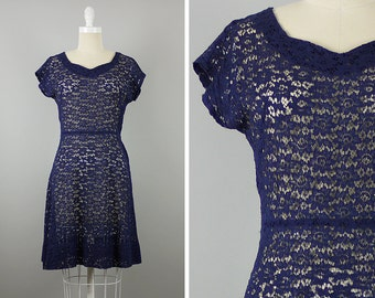 1950s Navy Lace Dress --> 1950s Dress  --> 1950s Cocktail Dress --> 1950 Dress --> 50s Dress --> Lace Dress --> 1950s Clothing