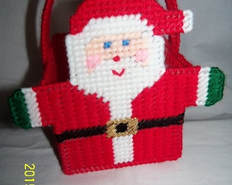 Santa Holiday  Merry Little Tote Basket