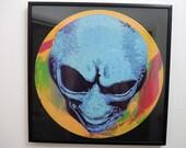 Alien Art Stencil on 33 R...