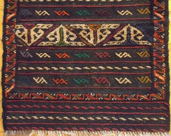 """Vintage Hand Knotted and Hand Woven TRIBAL Runner.  Woven by NOMADIC Tajik  people in Caucasus Region, 2'2""""x5'8"""""""