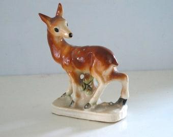 Vintage Deer Figurine Hand Painted