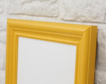 A4 frame - Mustard/Yellow - Scandinavian style - made to order