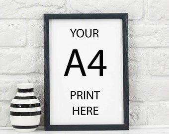 A4 wooden frame - BLACK - made to order