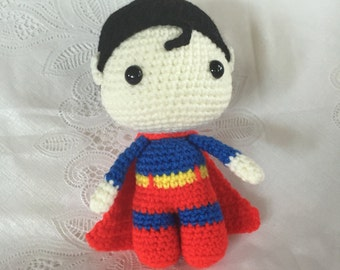 Baby Superhero, Crocheted Superhero, Handmade Superhero - Collectible Doll - Superhero Amigurumi