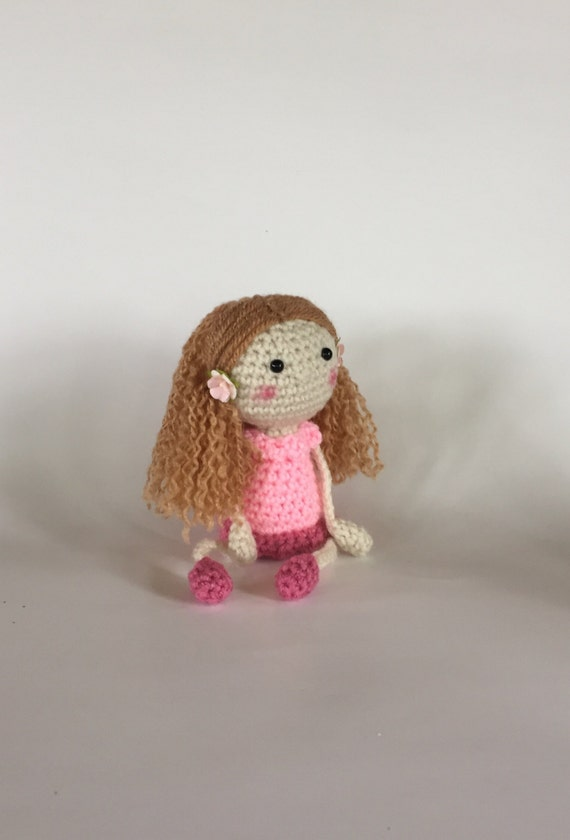 Hand Crocheted Doll floppy legs and arms Handmade Doll
