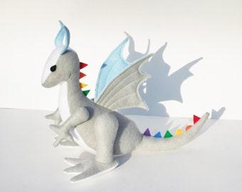 Sunshine-on-a-Cloudy-Day Dragon Fantasy Plush ~ Eco Friendly Stuffed Animal Toy, Rainbow Dragon, Boys, Kid Gift, Toy Dragon Plushies