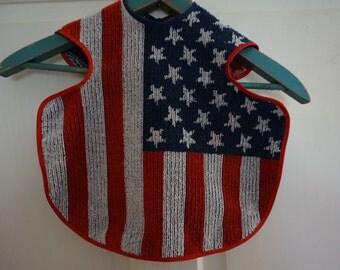 American flag terrycloth Bib