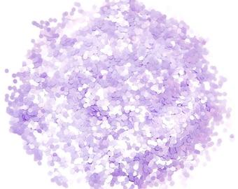 Lavender Dots SOLVENT RESISTANT GLITTER 2mm  - 1 Fl. Ounce for Glitter Nail Art, Glitter Nail Polish & Glitter Crafts