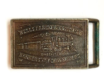Wells Fargo & Company Belt Buckle Bankers and Forwarders