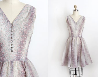 vintage 1950s dress // 50s sheer paisley day dress