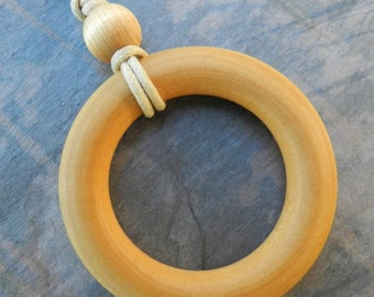 Simple Wood Nursing Necklace Teething Necklace - large size