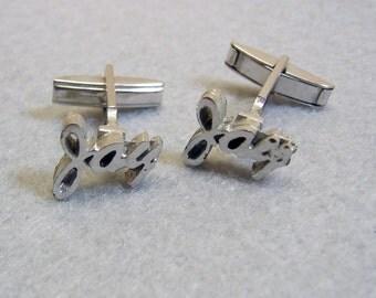 Silver Metal JAY Cufflinks Set, Name of Jay, Silver Cufflinks