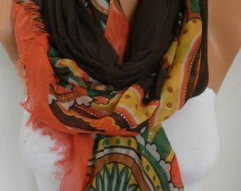 Cotton Scarf, Shawl, Fall Scarf, Cowl, Halloween, Oversized Wrap, Bridesmaid Gift Gift Ideas For,Her Women Fashion Accessories Women Scarves