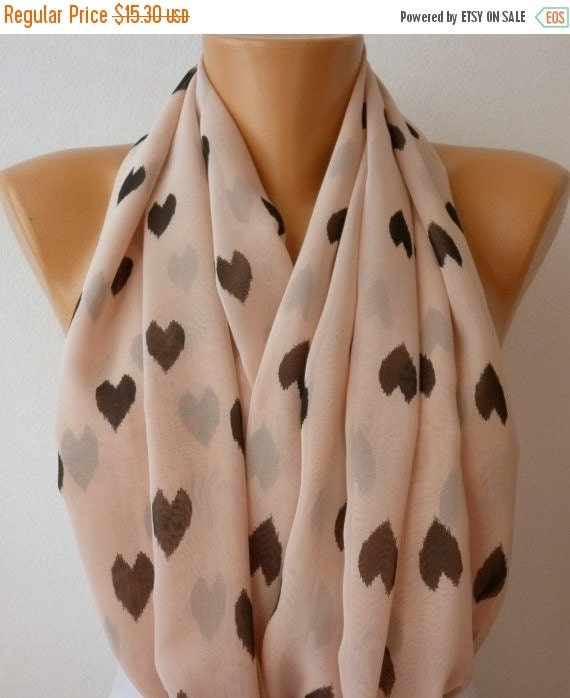 print infinity scarf chiffon gift summer by