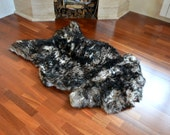 Sheepskin rug Sheepskin pelt Large rug Seat covers Сhair covers Leather chair cover Natural sheepskin leather Sheepskin skin Soft rug S3