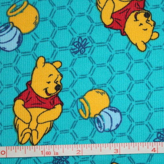 End of bolt fabric 2 1 2 yards pooh honeypots disney for for Children s corduroy fabric