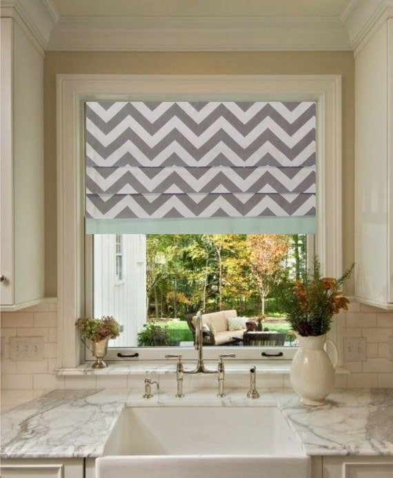 trimmed faux roman shade stationary lined roman valance storm. Black Bedroom Furniture Sets. Home Design Ideas