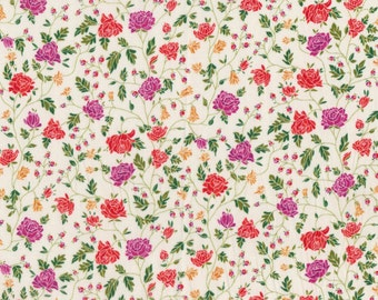 """Liberty Tana Lawn WILLIAMS - 17"""" wide x 13"""" (43cm x 33cm) - Limited Edition colour - red, purple"""