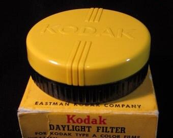 Vintage 1940's Kodak Bakelite Filter Case with Daylight Filter Type A Color Films
