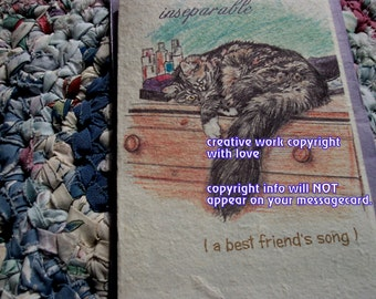inseparable / maine coon cards/ love my maine coon/personalize/storybook /unique empathy condolence /pet sympathy/pet cards/cat cards