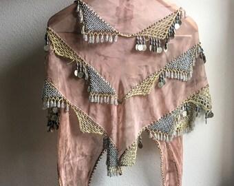 Silk embellished wrap