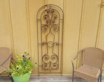 Vinatge hand forged iron Garden Gate
