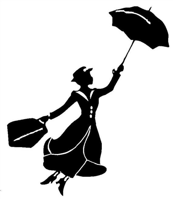 Mary Poppins Nanny Vinyl Decal Sticker Car Window