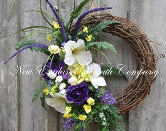 Spring Wreath, Easter Wreath, Spring Floral, Elegant Spring Wreath, Elegant Easter Wreath, Designer Spring Wreath, Spring Garden Wreath