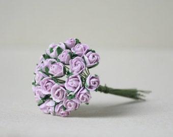 8  mm /  20  Lilac Paper  Rosebuds