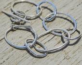 sterling silver chunky toggle bracelet with irregular oval links, ildiko jewelry