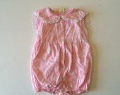 Clearance Vintage 80's Rose Sailor Romper (18 months)