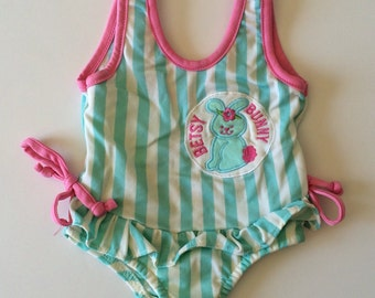 Vintage Betsy Bunny Swim Suit (12 months)