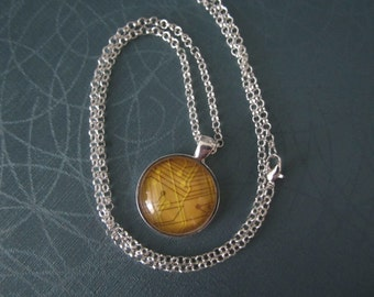 Yellow Circuit  Necklace Netrunner