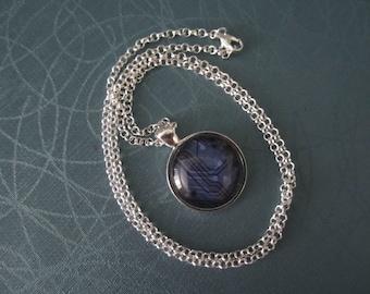 purple Circuit  Necklace Netrunner