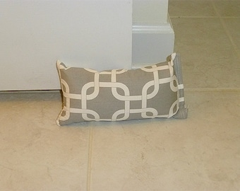 Doorstop, Door Stop, Grey Door Stopper, Fabric Doorstop, Door Wedge, Fabric Door Stop, Grey White Door Holder