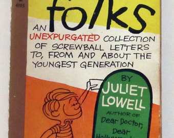 Dear Folks Softcover Book of Children's and Parents Letters