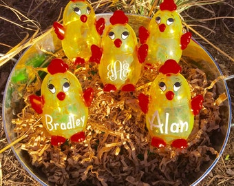 Personalized Easter Egg, Easter Egg Chick, Monogrammed Plastic Easter Eggs, Easter Basket, Fillable plastic egg, Easter Egg, Easter Gift