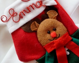 Personalized Christmas Mitten, Gift Card Holder, 1