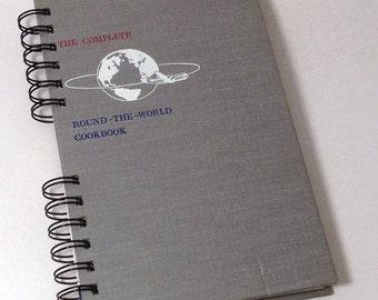 1954 WORLD COOK BOOK Handmade Journal Vintage Cookbook