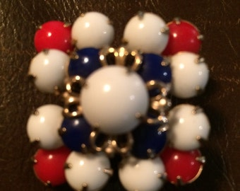 Red, White & Blue brooch