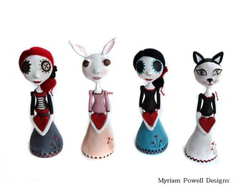 Valentine's Art Dolls - Mini Art Dolls - Valentine's Gift - Valentine's Day