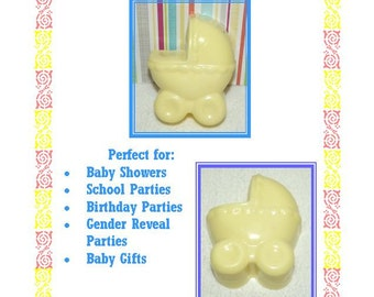 10 Baby Shower Soap Favors, Baby Carriage Soap Favors, Gender Reveal Shower Favors, Welcome Baby Favors