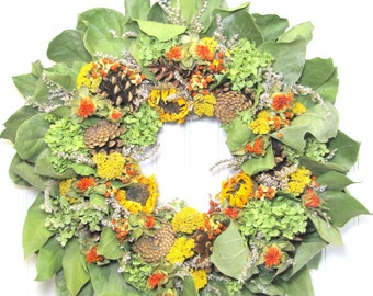 Fall Wreath, Dried Floral Wreaths, Fall Decor,  Bittersweet, Dried Flower Wreath