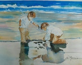 Custom painting from your photo: Grandkids on the beach or anywhere, Wedding, Anniversary, Gift Certificates!