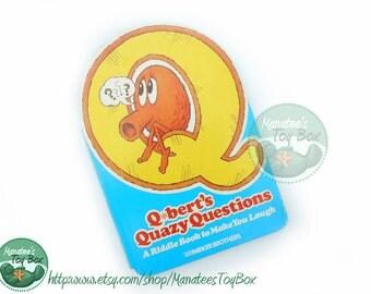 Q*bert's Quazy Questions: Vintage Qbert book Arcade Video Game Character 1980s