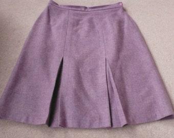 SALE Lilac pink pure wool skirt Murray Bros Scotland uk 20
