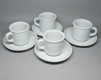 Galaxy milkstone white 4 cups and saucers made by Trend Pacific designed by Isamu Kenmochi