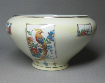 Royal Rochester Royalite batter bowl with exotic bird  bird of paradise /  golden pheasant