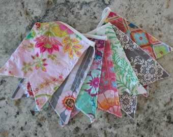 Penant Bunting - CUSTOM order - choose your color/style and quantity of penants flags