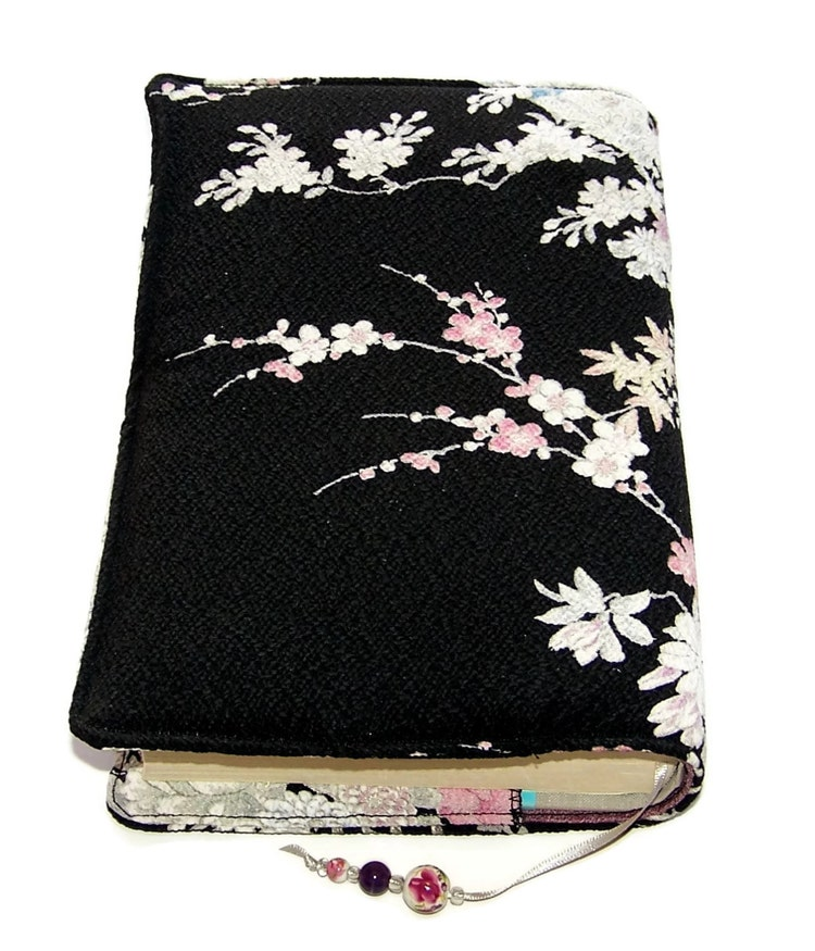 Book Cover Material Japan ~ Fabric book cover handmade bible kimono by